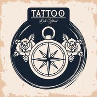 compass guide tattoo studio image artistic vector