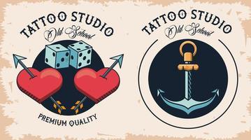pair of tattoos studio image artistics vector