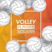 cartel de deporte de voleibol con globos vector