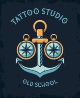 anchor tattoo studio image artistic vector