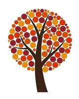Abstract Vector Autumn Tree Illustration