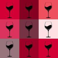 Full Glass of Red Wine Background vector
