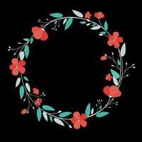 Abstract Design Flower Background Vector Illustration