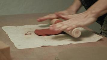 Ceramist in The Workshop with Clay video