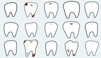 gran conjunto con dientes vector