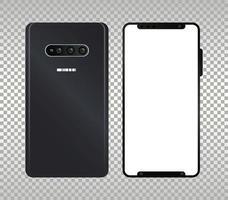 dos iconos de dispositivos de teléfonos inteligentes de maqueta vector