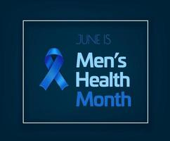 junio es el mes de la salud de los hombres vector