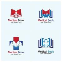 Medical Book Logo icon design vector