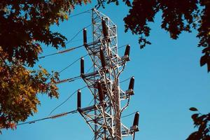 power transmission tower electricity tower photo