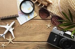 Summer holiday background Travel concept photo