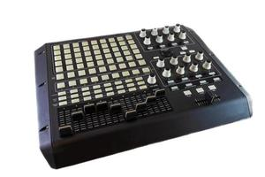 Studio Controller Desk for Electronic Music Production and Music Mixing on white backgorund photo