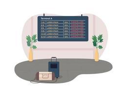 cancelado vacaciones 2d vector web banner