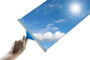 limpiar el vidrio foto