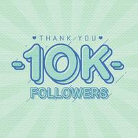 Thank you followers congratulation banner vector