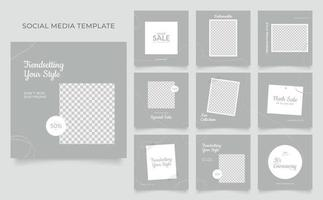 fully editable social media template banner for sale or promotion vector