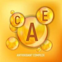 Vitamin A C E  Icon Antioxidant Complex vector