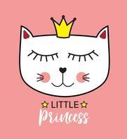 Little Cute Cat Princess vector