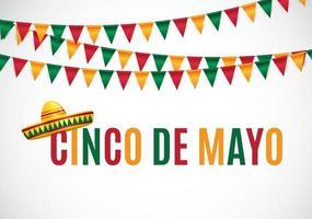 In Spanish Cinco de Mayo holiday background vector