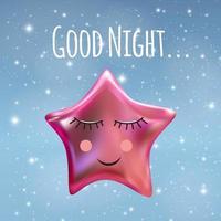 Good Night Sky Background vector