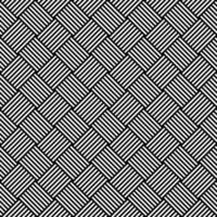 Black and White Hypnotic Background Seamless Pattern vector