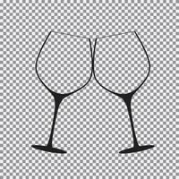 Sparkling Wine Glasses Icon vector