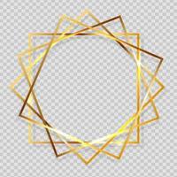 Gold Paint Glittering Textured Frame vector
