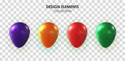 Realistic 3d balloon collection set for party vector