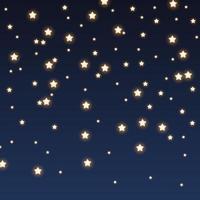 Glitter sparkles on night sky background vector