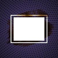 Abstract gradient dotted pattern background with white frame vector