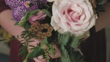 Close up Of a Bouquet Being Made video