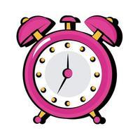 reloj despertador icono de estilo plano de arte pop vector