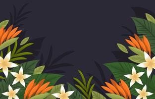 Colorful Floral Summer Tropical Background vector