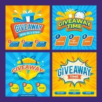 Giveaway Social Media Post Collection vector