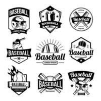 colección de plantillas de insignias de béisbol vector