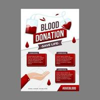 Blood Donation Poster Template vector