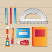 Stationary Icon Template Set vector