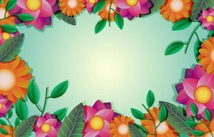 plantilla de fondo de flores de colores vector