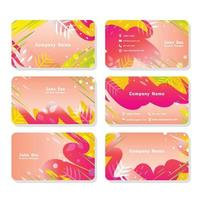 Abstract Business Card Template Set vector