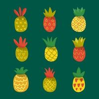 Pineapple Summer Tropical Fruit Icon vector