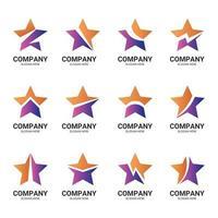 Star Logo Gradient Element Set vector