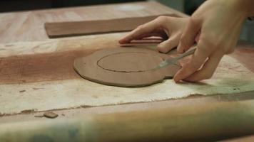 Close up Of a Ceramist Creating a Mug video