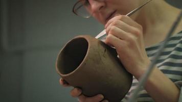 Ceramist Working on A Clay Mug video