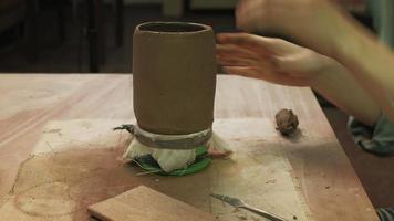 A Ceramist Creating a Mug video