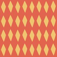 patrón de rombos vectoriales sin fisuras. diamantes amarillos sobre un fondo rojo. texturas geométricas modernas con estilo. vector