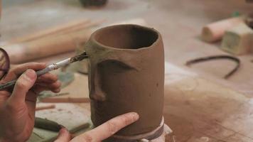 Working on A Ceramic Mug video