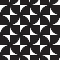 Black and white hypnotic background Abstract Seamless Pattern vector
