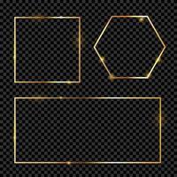 Gold Frame Collection Set vector