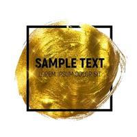 Gold Paint Glittering Textured Art Illustration vector