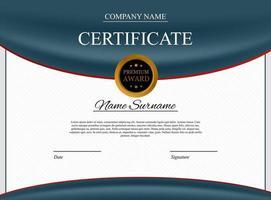 Certificate template Background. Award diploma design blank vector