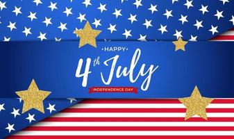 July 4 Independence Day in USA Background Can Be Used as Banner or Poster vector